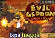 Juego de Evilgeddon Spooky Max   JUEGOS GRATIS: Excelente juego pero pesado, estas en una ciudad lleno de zombies, fantasmas y calaveras, tu misión es eliminar por completo a estas criaturas, utiliza las armas que encuentres y dispara todo lo que puedas, no dejes que te coman y defiende a tu ciudad http://www.ispajuegos.com/jugar6568-Evilgeddon-Spooky-Max.html#