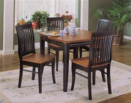 Liz Antique Black Warm Cherry 2 Tone Wood Dining Table