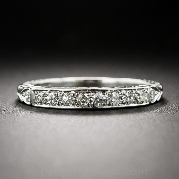A Delightful Vintage Style Wedding Band To Match With Your Engagement Ring This