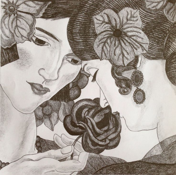 The Ladies drawing  Copied in pencil by L. Arjona