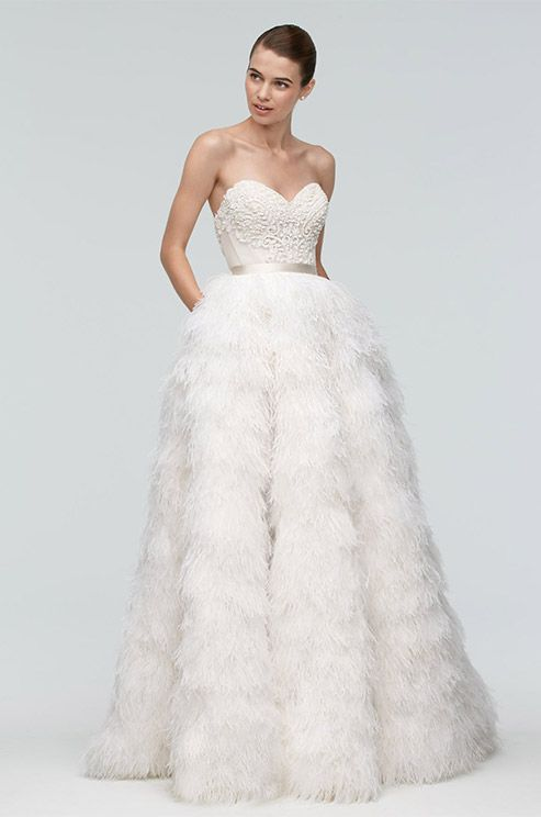 Great  Beautiful Feather Wedding Dresses Trend For