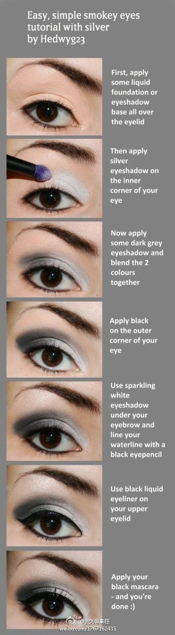 Silver Smokey Eye tutorial, prom make up?