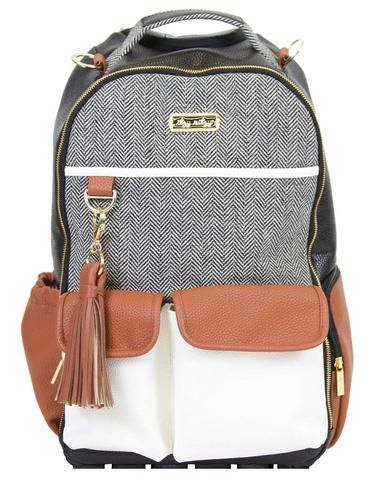 Itzy Ritzy Boss Backpack Diaper Bag- Coffee and Cream