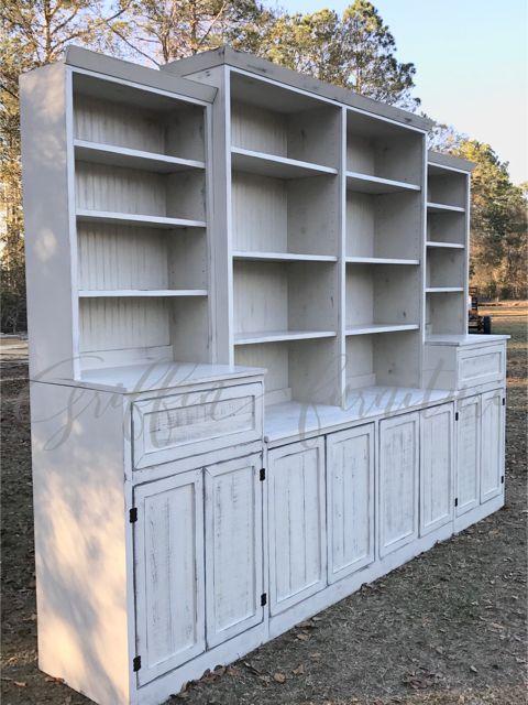 Wall storage unit/ bookshelf/storage cabinet