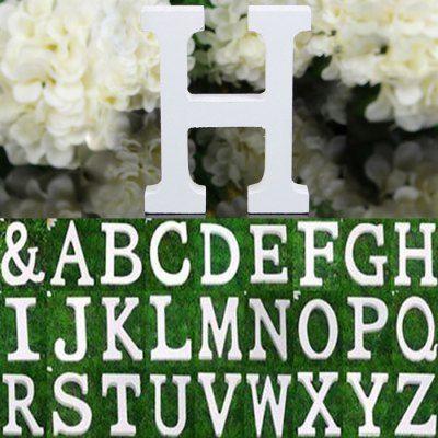 Hoy con el 57% de descuento. Llévalo por solo $7,100.Madera creativa Inglés Carta Decoración DIY del ornamento del arte del alfabeto.