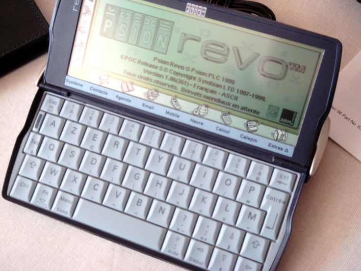 Psion Revo PDA - I used to have one, carried around with me just like a pad; it fitted into the back-pocket of my jeans perfectly. Too bad it broke down, or else I just might still carry it around with me...