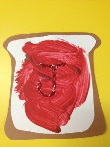 j is for jam preschool craft