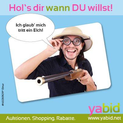 Die #Saison ist eröffnet! Geh' bei #Yabid auf #Schnäppchenjagt und nimm die besten #Deals aufs Korn! Hol's dir wann DU willst! www.yabid.net
