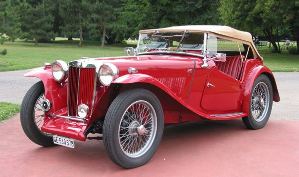 US MG TC a cool old car