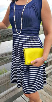 I love the top of this dress!  Great color, interesting ruching, and cinched at the waist.