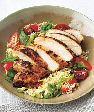 Poulet épicé avec salade de couscous