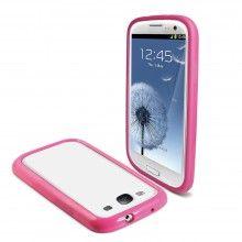 Bumper Galaxy S3 Muvit - iBelt Rosa com Protetor de Tela  R$46,08