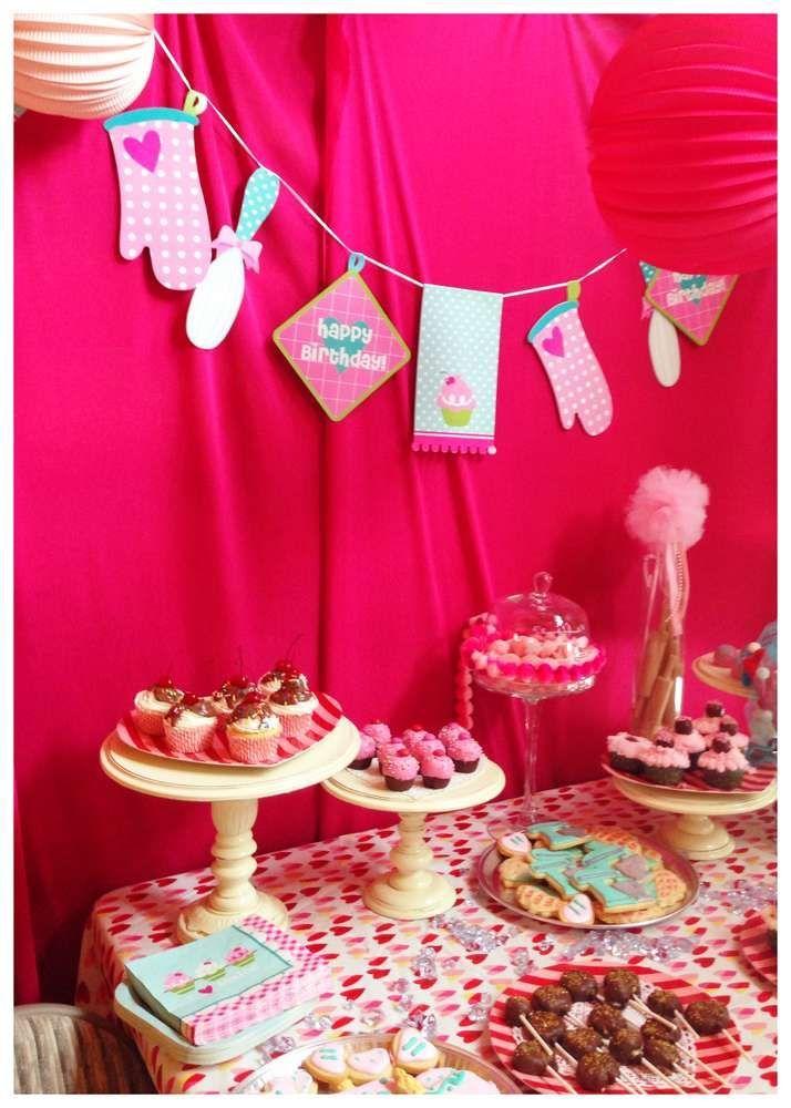 Cute Baking Birthday Party Ideas. Little Girls will Love It!