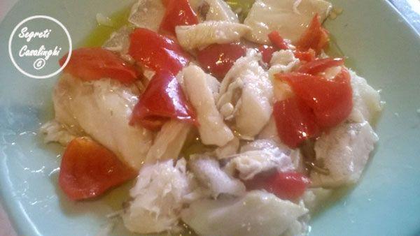 insalata stoccafisso papaccelle napoletane,ricette stoccafisso,ricetta papaccelle napoletane e pesce,secondi piatti pesce,pesce con verdure ricette,