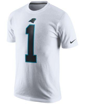 Nike Men's Cam Newton Carolina Panthers Pride Name and Number T-Shirt - White XL