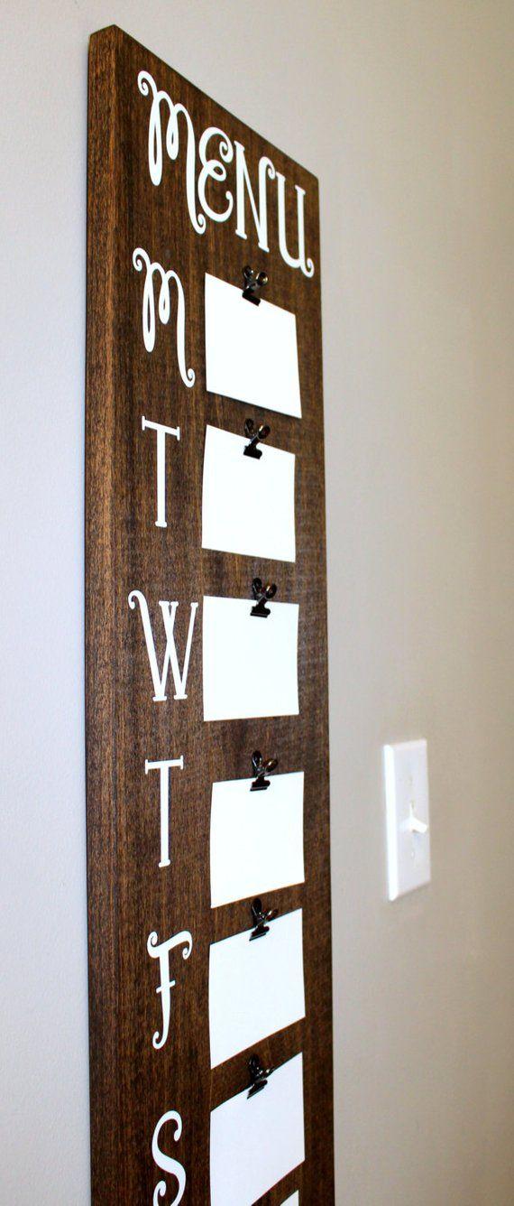 Menu Board / Wooden Menu Board / Wall Menu Board / Rustic ...