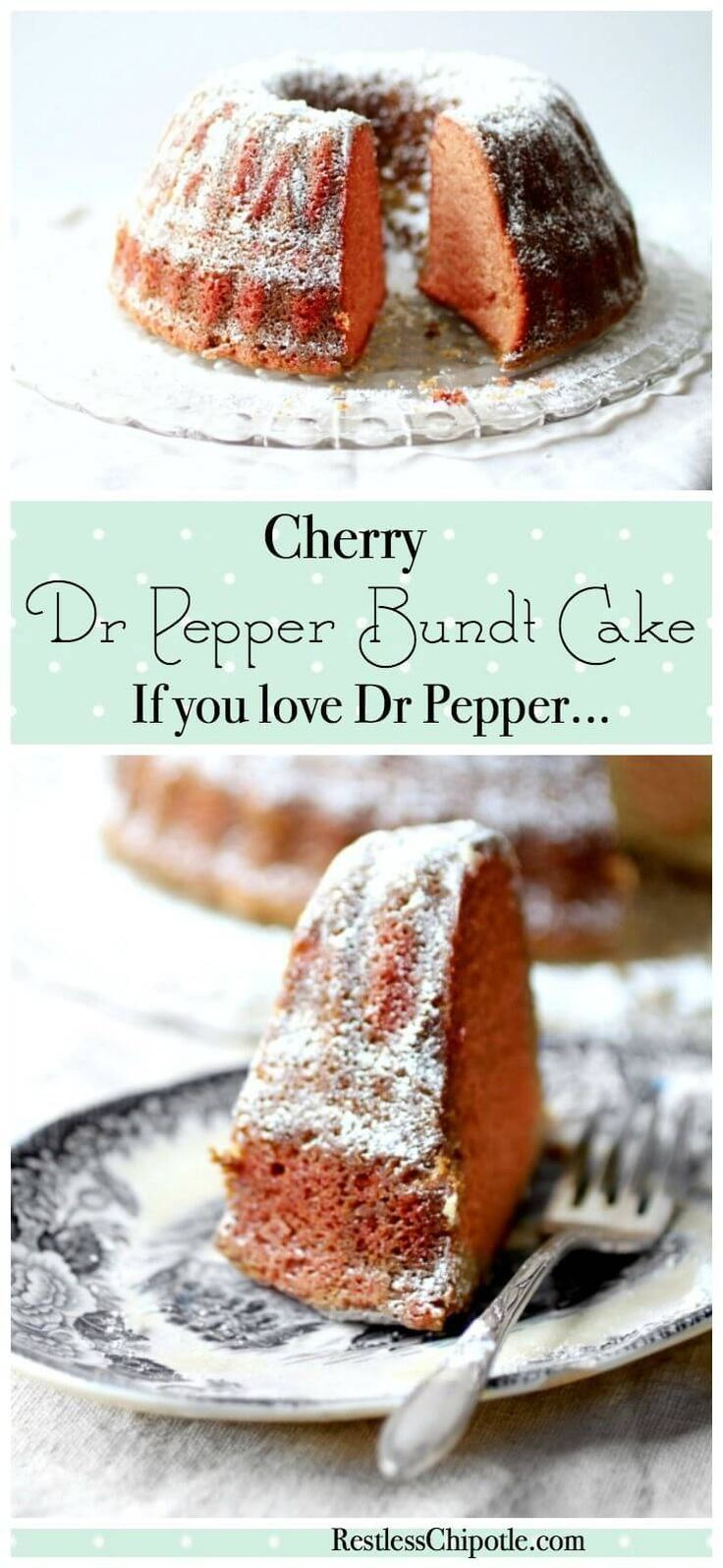 Easy Dr Pepper Cake is made from scratch with original or Cherry Dr Pepper. This bundt cake recipe is SO moist and buttery -- it's unique! From http://RestlessChipotle.com via @Marye at Restless Chipotle