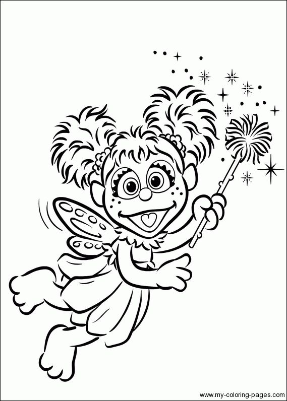 abby cadabby coloring page - 89 best sesamstraat images on pinterest
