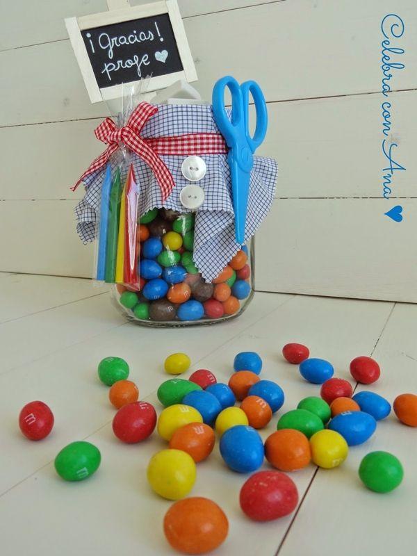 Bote de chuches para mi profe 9 regalos comestibles - Como decorar botes de cristal para chuches ...