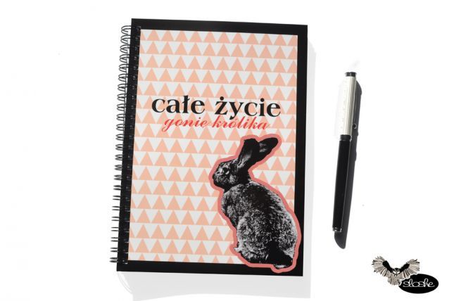Rabbit in journal by Sloshe