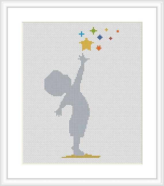 BOY Cross stitch pattern Litle Boy silhouette Modern cross