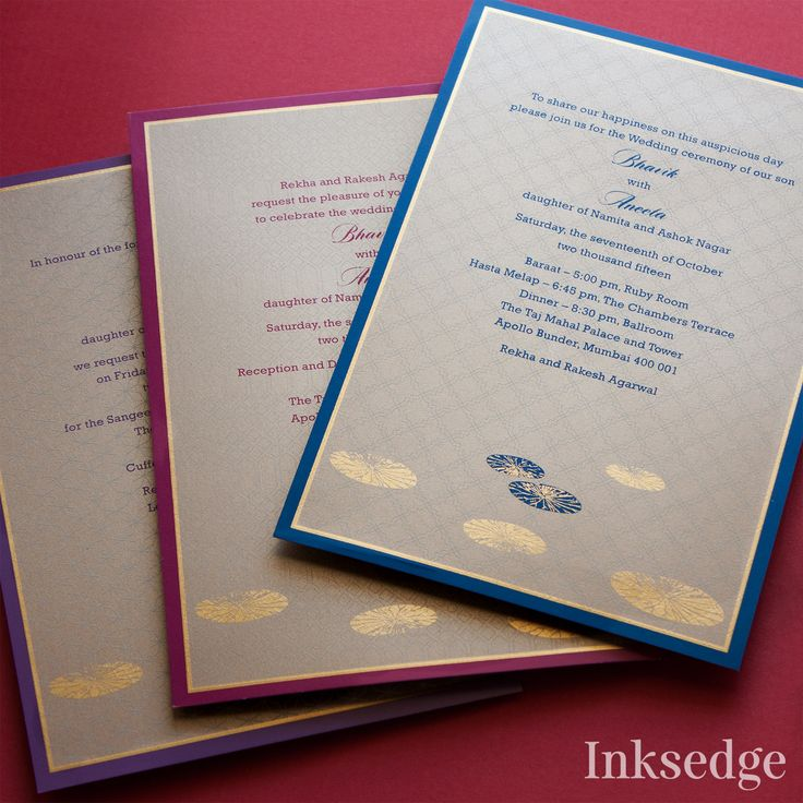 Hindu WEdding Invitations with the auspiciousness of