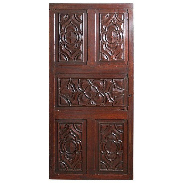 17th Century Carved Walnut Door from the Languedoc Region of France | From a unique collection of antique and modern doors and gates at https://www.1stdibs.com/furniture/building-garden/doors-gates/