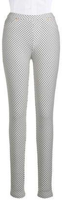 Michael Michael Kors Petite Polka Dot Stretch Pants - Shop for women's Pants - Cream Pants