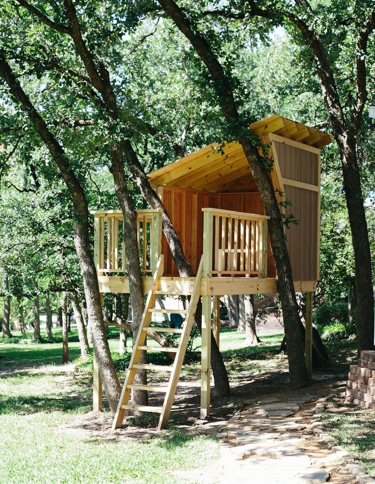 Our treehouse build is almost complete. View our in-progress design and access the construction plans for our inspiration treehouse