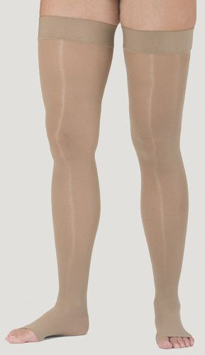 Assure by Medi 20-30 mmHg Open Toe Thigh High Compression Stockings with Silicone Border in Petite