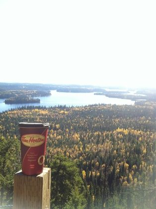 Tim Hortons Every Cup Story - Steeped Tea up on steep Teapot Mountain
