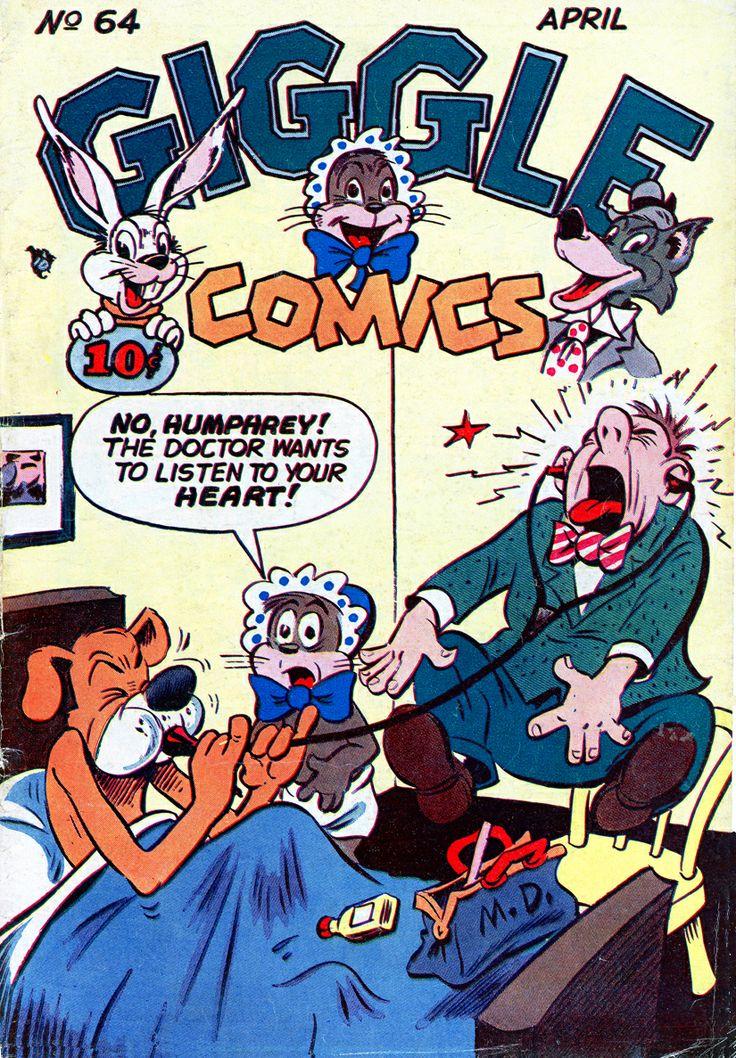 """Giggle Comics"", Apr 1949...Dan Gordon cover art"