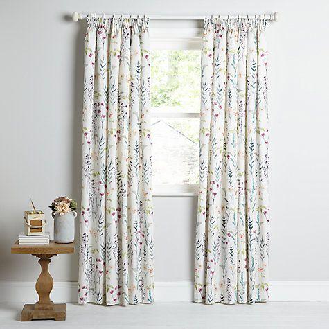 Buy John Lewis Longstock Lined Pencil Pleat Curtains, Multi Online at johnlewis.com