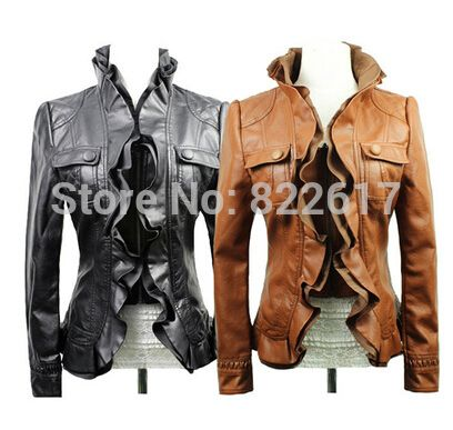 Free shipping autumn and winter 2014 fashion ladies leather jacket lace short paragraph Slim leather jacket motorcycle leather-in Leather & Suede from Apparel & Accessories on Aliexpress.com | Alibaba Group