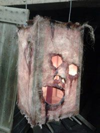 Halloween Head Lamp Prop : how twisted is this creepy stretched-skin lamp?!