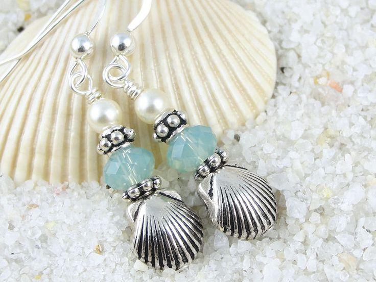 Seashell Jewelry | Beach Jewelry Summer Sea Shell Seashell Earrings Sterling Silver ...