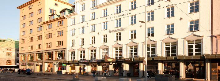 Scandic Strand Bergen, entrance, facade