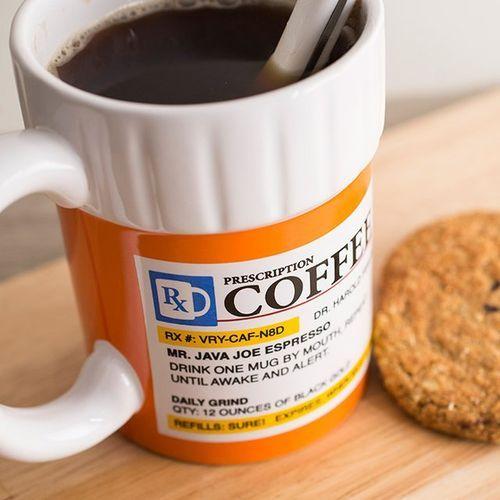caneca de prescrição de café