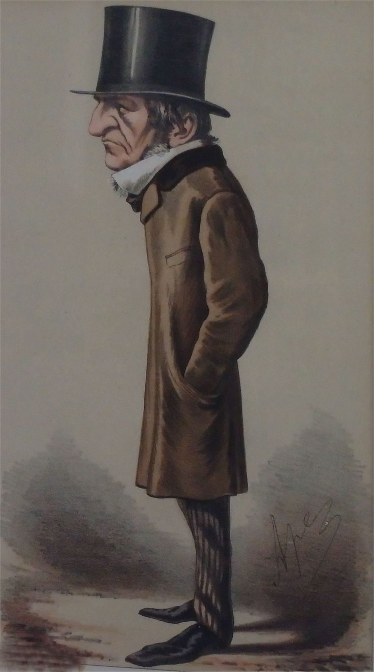 Gladstone appeared nine times in Vanity Fair and had just become PM when this cartoon was published in February 1869.  Editor, Jehu (Thomas Gibson Bowles), was a reluctant supporter, still he conceded that Gladstone had 'a fearless intellect', and 'a mind so vast as to be almost universal'.  Gladstone himself claimed to have read over 20,000 books, which enabled him to pronounce with great moral force on the political issues of the day.