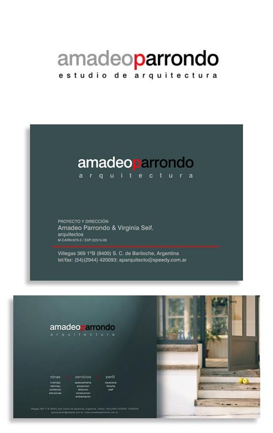 IORC - Identidad  Amadeo Parrondo, arquitecto