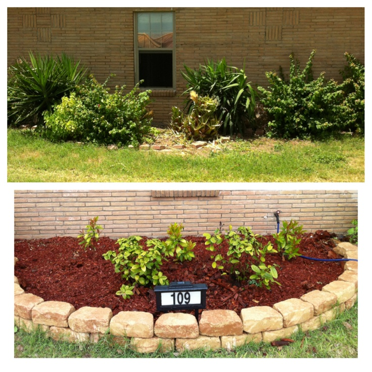 Remodel of our front yard flower bed looks so much better for Front yard flower beds