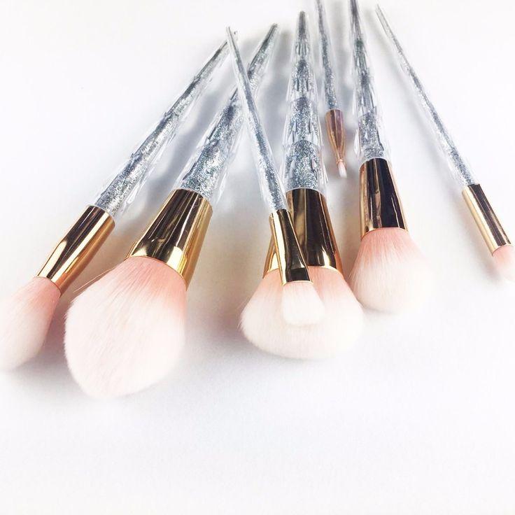 Hot!12017 pro make up brushes wholesale cosmetics makeup 7pcs high end colorful ferrule spectrum makeup brushes