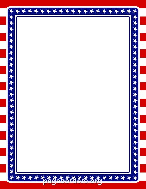 american flag with 50 stars outline border