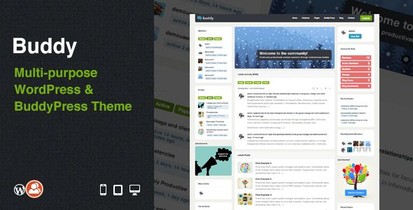 Buddy: Multi-purpose WordPress & BuddyPress Theme (BuddyPress)