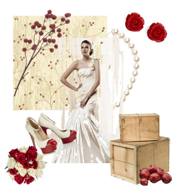 """Sposa white & red"" by barbara-bragatto on Polyvore"