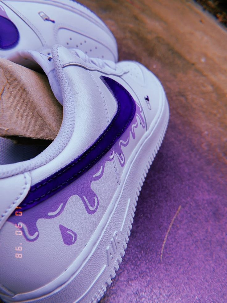 Purple Rain Air Force 1 Custom Etsy Jordan shoes girls