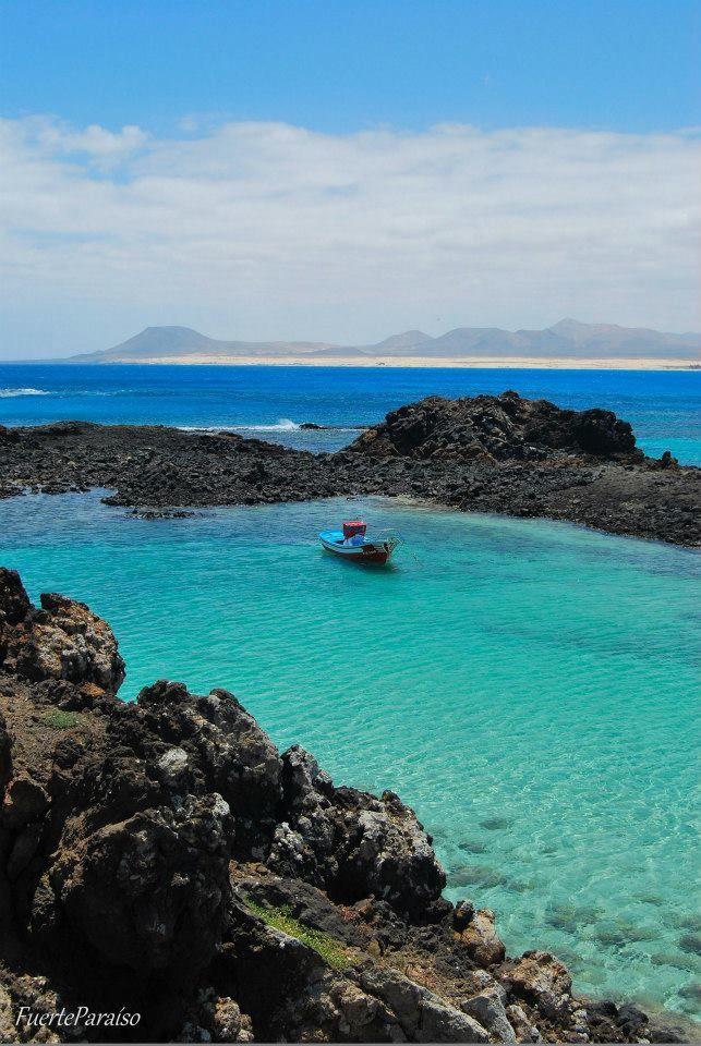El Puertito (Isla de Lobos), Fuerteventura, Islas Canarias, Spain.