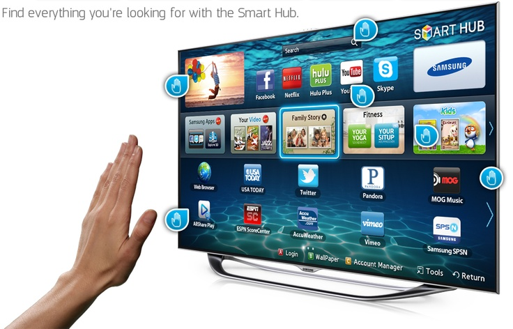 Samsung's new smart TVs use simple gestures, voice control