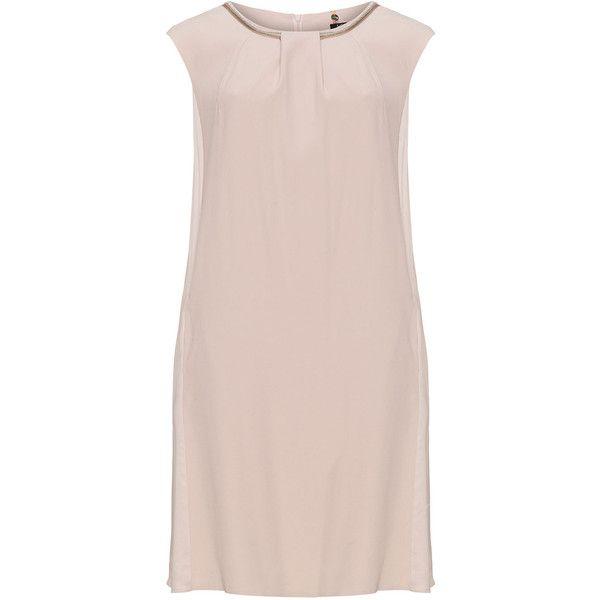 KS Selection Pink Plus Size Embellished shift dress ($70) ❤ liked on Polyvore featuring dresses, pink, plus size, pleated dress, women's plus size dresses, pink shift dress, sparkly dresses and embellished shift dress