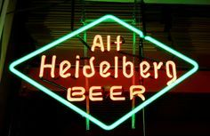 heidelberg neon sign   1000+ images about Beer History and advertising on Pinterest   Neon ...